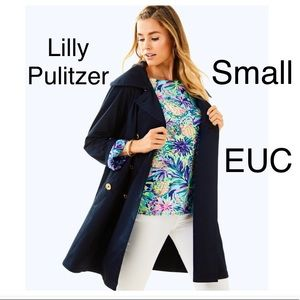 Lilly Pulitzer qynn black trench coat small